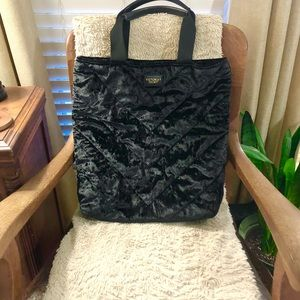 Victoria's Secret Black Velvet Tote